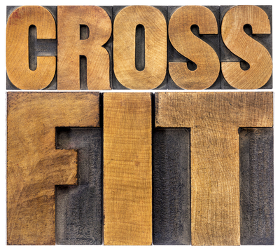 crossfit word abstract - isolated text in letterpress wood type